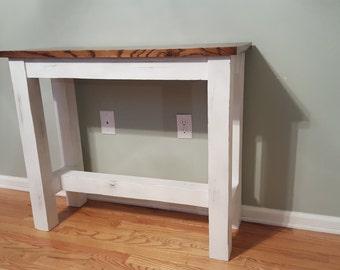 Rustic Oak Entry Table