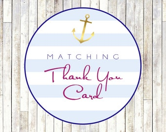 Matching Thank You Card - Printable DIY