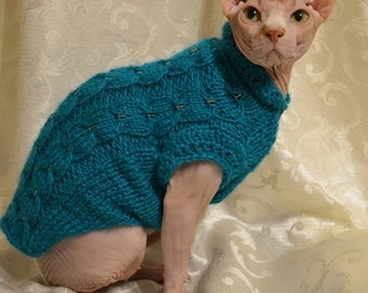 FREE shipping, Sphynx Cat Clothes, clothes for cat, sweater for sphynx, sweater for cat, sphynx clothes