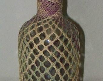 Basket-Woven Bottle