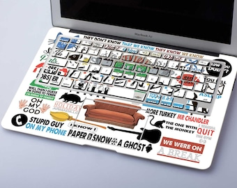 Friends Mac Macbook Decal Friends Laptop Stickers MacBook Decal Mackbook Sticker Mac Book Stickers Macbook Air Skin SG072