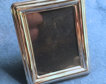 "Vintage Miniature Sterling Silver Picture Frame - ""Miro"" - Rectangular Plain"
