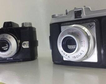 2x vintage 1950's agfa camera's