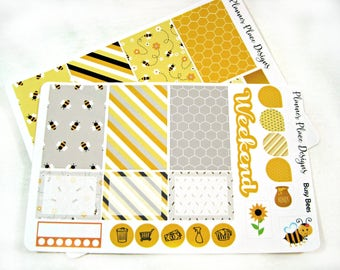 Planner Stickers - Weekly Planner Stickers - Happy Planner Stickers - Day Designer - Functional Stickers - Bumblebee Stickers