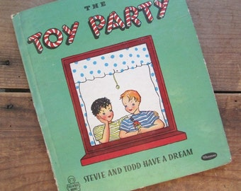 The Toy Party Whitman Tell A Tale Vintage Picture Book