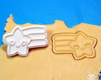Star Rainbow Cookie Cutter and Stamp Set