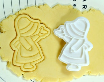 Girl with Bird Cookie Cutter and Stamp