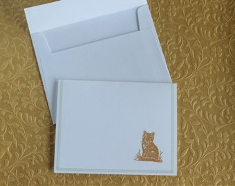 Fox and owl notecards | stamped notecards (set of 6)