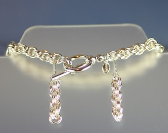 Sterling Silver Bracelet & Earrings Set