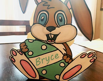 Personalized Wooden Easter Basket (Boy or Girl)
