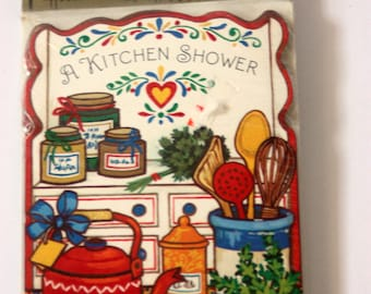 Kitchen Shower Invitations, Vintage Shower Invitations, Bridal Shower Invitations, Retro Invitations, Bridal Party Invitations,