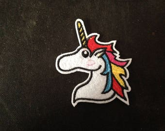 Unicorn Patch Embroidered Applique Sew On or Iron on Patch  go47