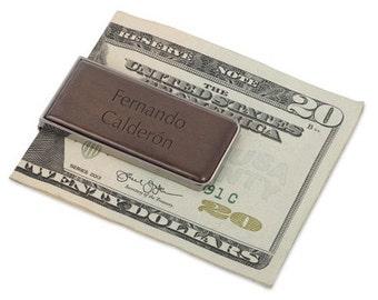 Wood and Gunmetal Money Clip