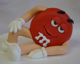 Unconventional cake Aufleger fondant sugar Figure M + M Y Red