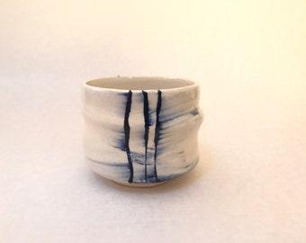Tea bowl; glazed stoneware