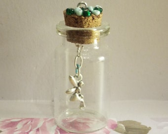 Make A Wish: Glass Bottle Necklace Charm