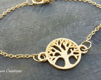 Bracelet life tree, bracelet Golden tree of life, Friendship Bracelet, mother's day, forever love, mark bracelet, gold bracelet, gift