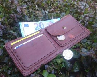 Handmade Leather wallet / Portafoglio in pelle fatto a mano
