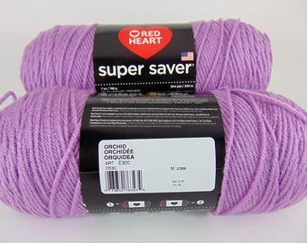 Orchid -  Red Heart Super Saver yarn 100 % acrylic worsted weight - 4094
