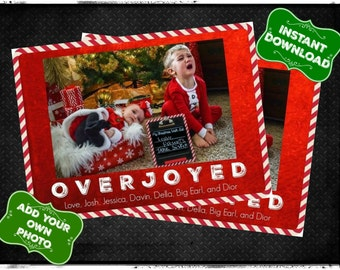 Overjoyed Christmas Card- INSTANT DIGITAL DOWNLOAD