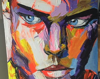 Intense man with strong vivid colors