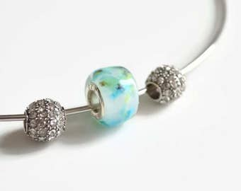 Jewelry, glass bead, Charm Murano glass, Luluverre, created by hand, made in Quebec