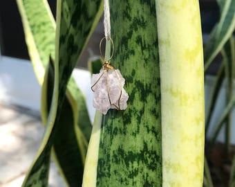 Simple Rose Quartz Necklace