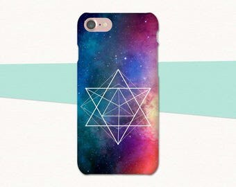 Sacred Geometry Phone Case, Space iPhone Case, Galaxy iPhone 6 Plus, iPhone 7 6S Plus 5, iPhone Cover, iPhone SE Space, Outer Space Case