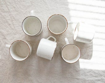 Vintage Mugs, Set of 6