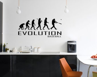 Evolution Of Baseball Wall Decal Planes Hearts Love Travel Vinyl Stickers Decals Art Home Decor Mural