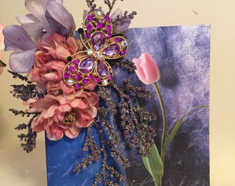 Picture Photo Album/ Book/ Jeweled with Floral