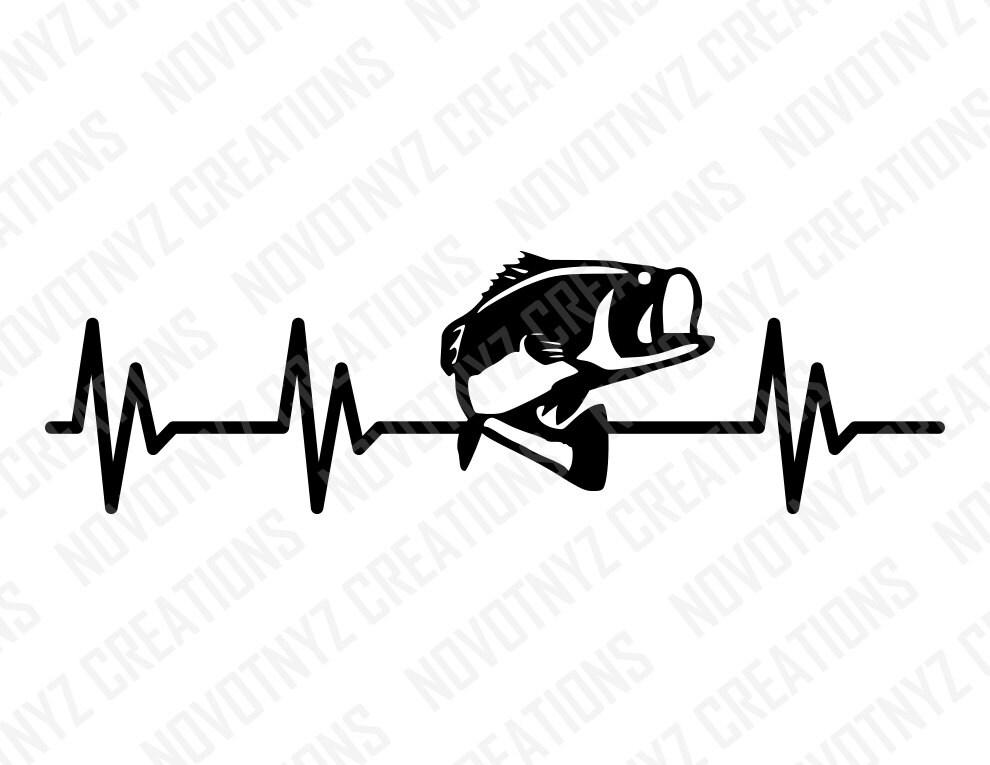 bass heartbeat svg fishing love for fishing bass fish clip art black and white bass fish clip art 166035