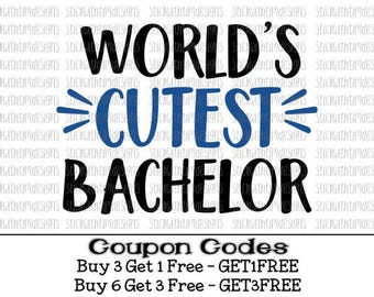 Worlds Cutest Bachelor Svg Baby boy svg Baby Svg New baby Svg PNG svg files for silhouette cameo svg files for cricut svg files for boys