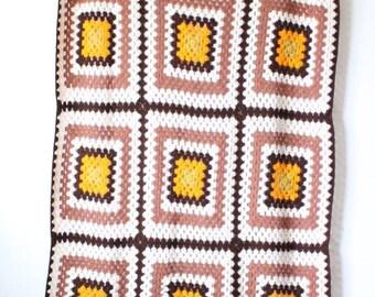 Large Vintage Handmade Afghan | Crochet Quilt | Handmade Blanket | Throw Blanket | Bedding | Retro Blanket | Crochet Blanket | Cozy Blanket