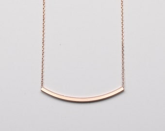 Amber Necklace Rose Gold