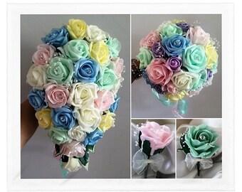 Wedding Flowers Pastel colours  & Ivory wedding bouquets, Brides, Bridesmaids, Flowergirls etc