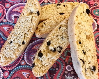 Black Currant Biscotti