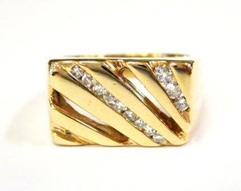 14K Gold & Diamond Men's Ring - X4102
