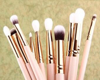 Details about  12x Pro Makeup Brushes Set Foundation Powder Eyeshadow Eyeliner Lip Brush Tool