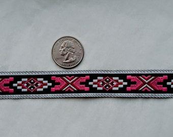 Pink and black tribal trim