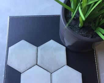 Handmade natural concrete coaster