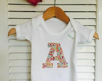 Organic Cotton Custom Letter Baby Bodysuit