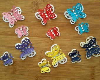 3D Butterfly Die Cuts - Ready assembled for scrapbook or card making projects