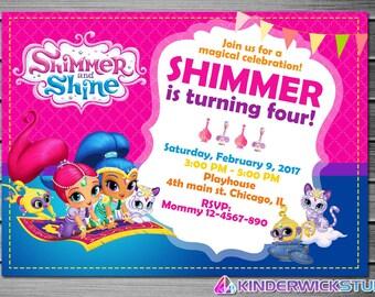 Shimmer and Shine Invitation, Shimmer and Shine Birthday, Shimmer and Shine Party, Shimmer and Shine Invites, Shimmer and Shine Printables
