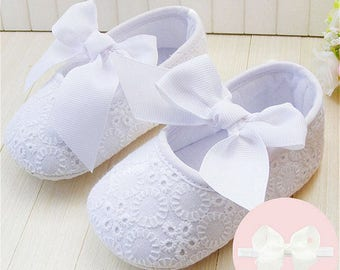 Spring Soft Sole Girl Baby Shoes Cotton First Walkers Fashion Custom by DoraBoutique