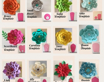 HARD COPY Paper flower template*