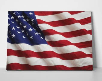 American Flag Poster Limited Edition American Flag Canvas | American Flag Poster