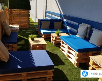 "Custom Outdoor Sitting Pallet Cushion (40""x48""x4"") or 101.6x122x10cm many Colours available, Outdoor fabric"