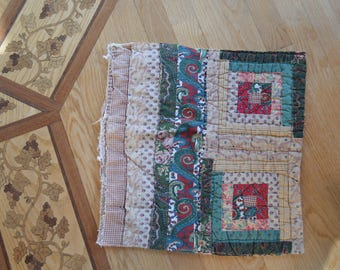 Farmhouse, rustic, primitive, country, cottage chic, shabby chic, vintage log cabin quilt cutter piece