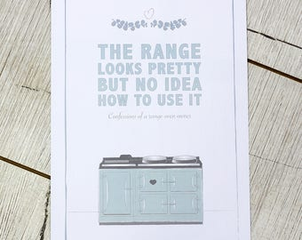 A4 wall print for your kitchen – The range, looks pretty but no idea how to use it